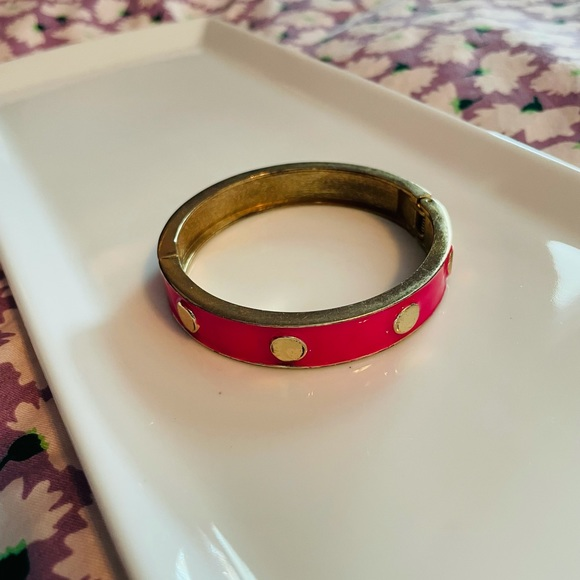 Vintage 90's Hot Pink Dotted Bracelet
